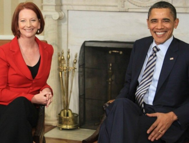 barack obama meets julia gillard 720x547