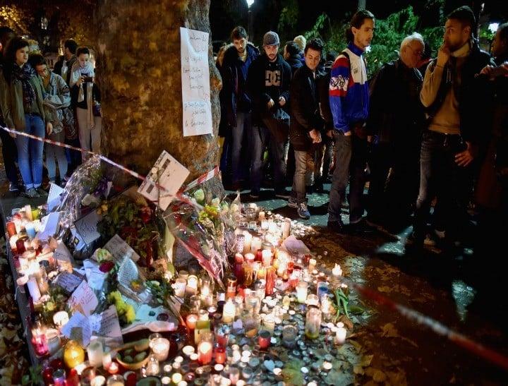 <> on November 16, 2015 in Paris, France.