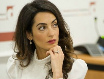 Amal Clooney at work