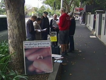 abortion protest abc