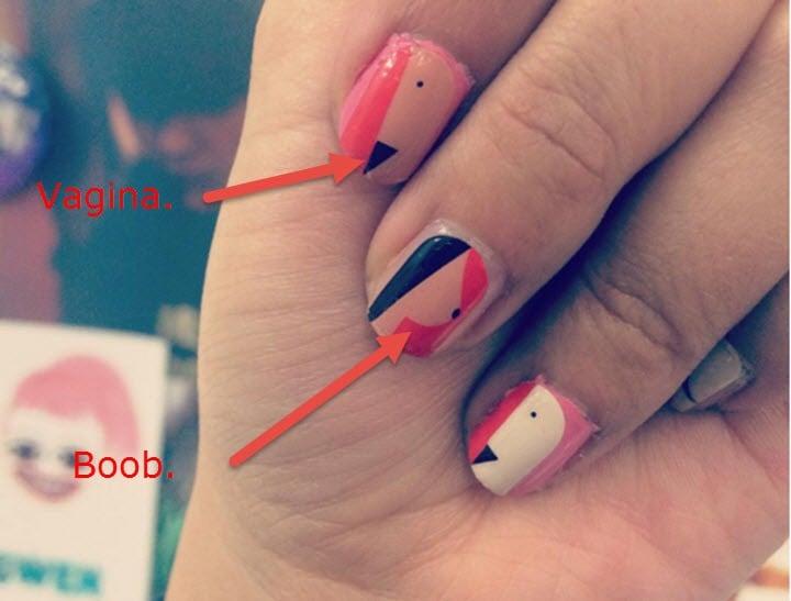 Lenny nail art