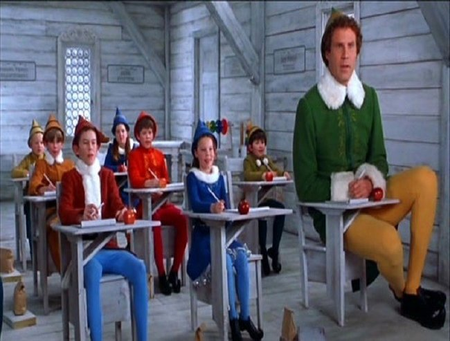 Elf in class photo