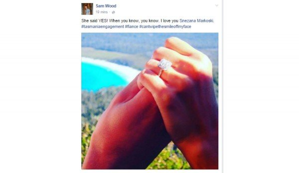 sam and snez engaged