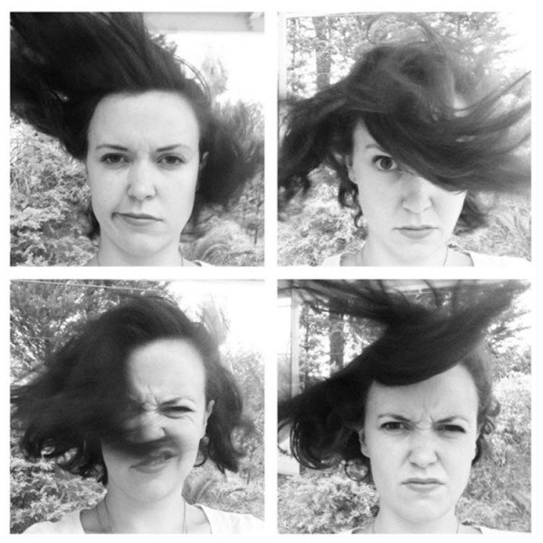 windy hair