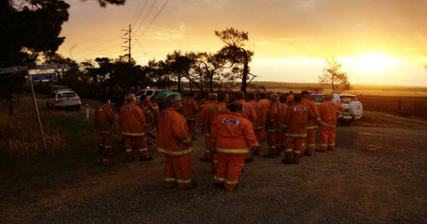 Great ocean road fires