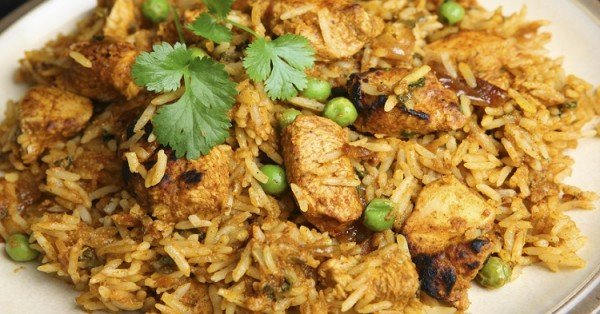 Indian chicken tikka biriyani