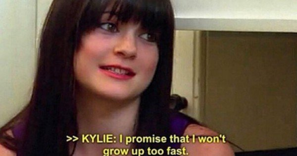 Kylie growing up