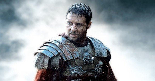 Crowe as gladiator