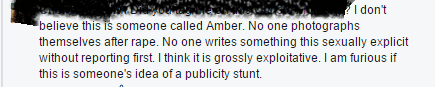 Amber rape comments activist 2