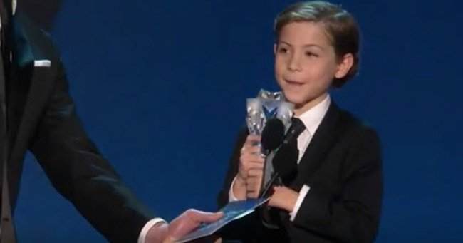 A nine-year-old has probably just given the best acceptance speech of 2016.