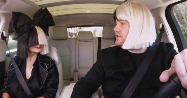 James Corden and Sia