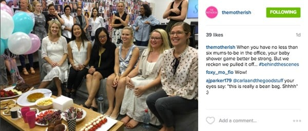 All the pregnant women in the Sydney Mamamia office