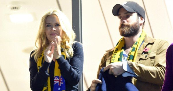 Kylie Minogue attends the Rugby World Cup Final match between New Zealand and Australia at Twickenham Stadium, UK. 31/10/2015 Credit Photo ©Karwai Tang For more information, please contact: Karwai Tang 07950 192531 karwai@karwaitang.com