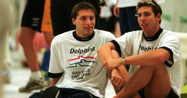 GettyImages-1young Ian Thorpe and Grant Hackett