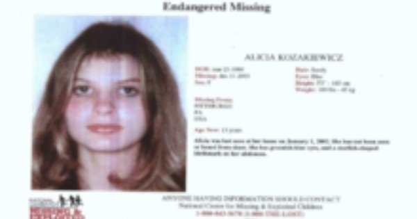 missing person poster Alicia