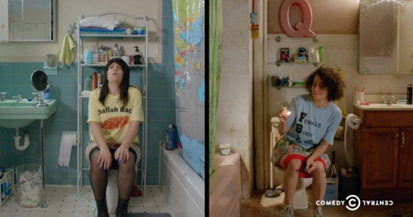 broad city toilet scene