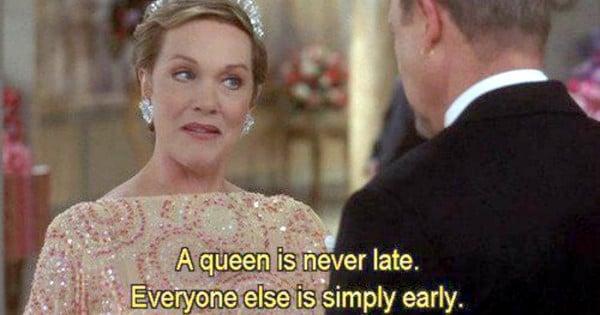 julie andrews queen is never late