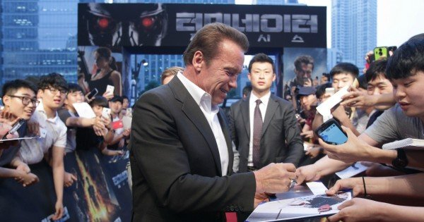 attends the Seoul Premiere of 'Terminator Genisys' at the Lotte World Tower Mall on July 2, 2015 in Seoul, South Korea.