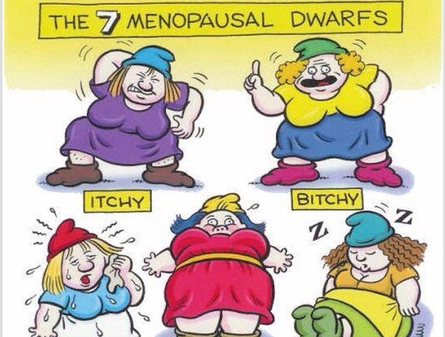 Itchy. Bitchy. Bloaty. Meet the 7 menopause dwarves.