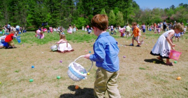 children easter egg hunt