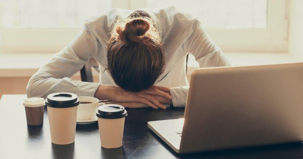 insomniac at work image via istock