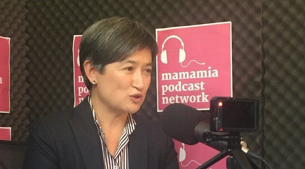 Penny Wong in Podcast Studio