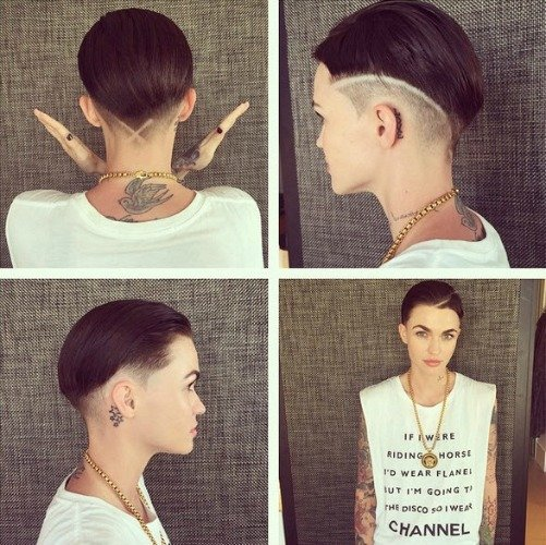 Ruby Rose hairstyles