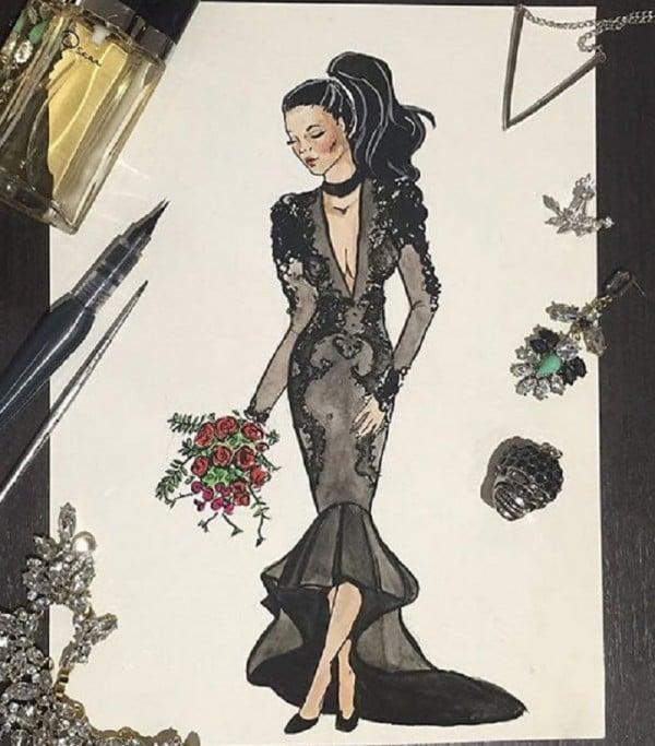Why Do Brides Wear Garters On Their Wedding Day: Why One Bride Decided On Wearing A Black Wedding Dress