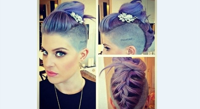 Kelly Osbourne braided updo
