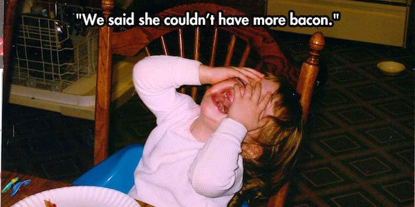 You'll never guess why the kids in these photos are crying...
