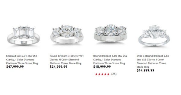 Costco sells engagement rings Some are a total bargain