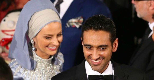 Waleed Aly and his wife Dr Susan Carland at the Logies. Picture Getty.