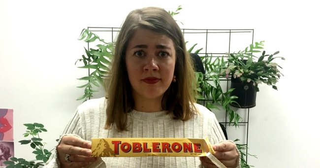 Nobody panic but we've been eating Toblerone wrong this entire time.
