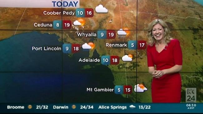 ABC weather woman can't stop laughing