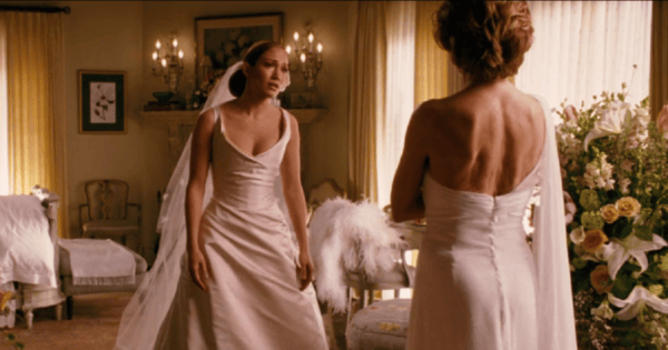 Wedding dress from monster in law my web value for Jlo wedding dress