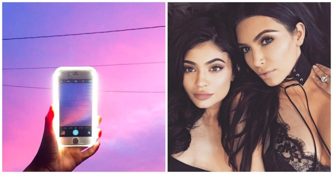 This phone light is Kim Kardashian's secret selfie weapon.