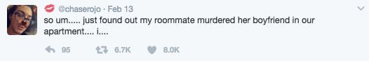 florida man tweets housemates death