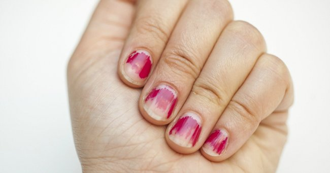 Why nail polish lasts one second on your fingers and 10 million years on your toes.