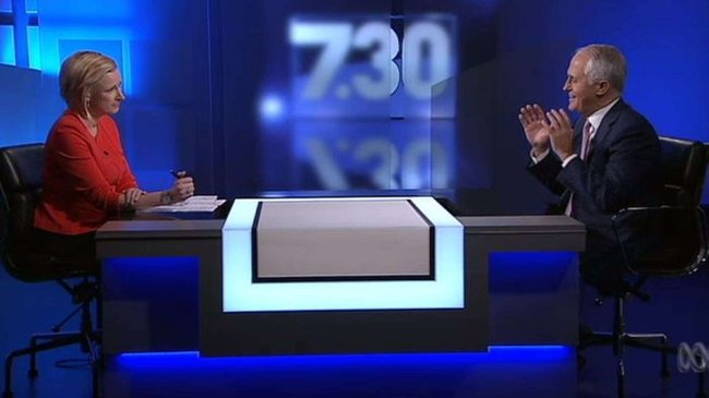 Malcolm Turnbull grilled by Leigh Sales over 'Australian values', citizenship test overhaul