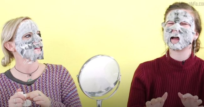 Four Mamamia staff dared to try the new bubble face mask that has the internet in a frenzy.