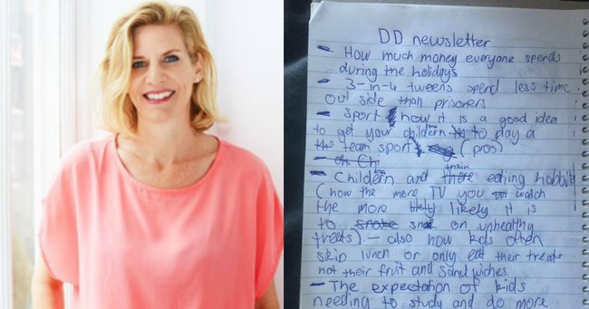 'My tween woke me up to hand over a list. It made my heart expand and shake.'