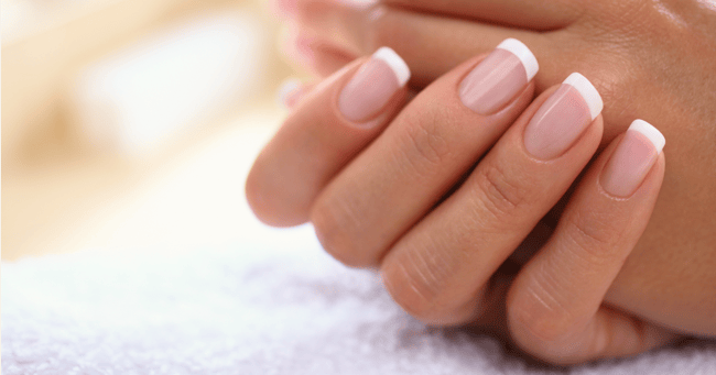 How to create the perfect French manicure at home.