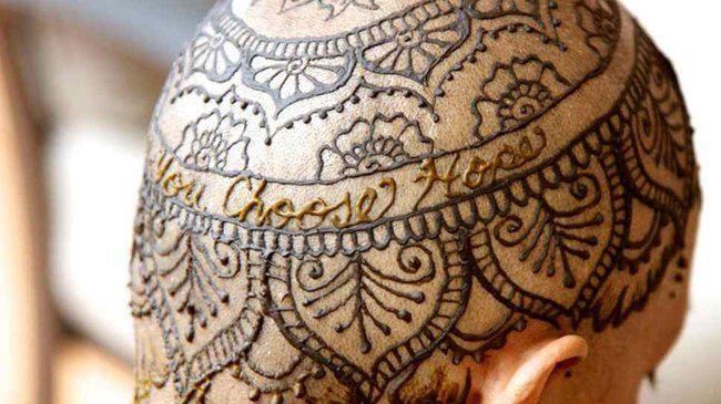 Mehndi For Tattoo : Henna scalp tattoos the most inspiring thing you ll see today