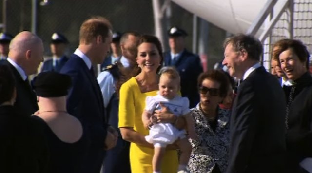 Prince George looking chuffed to be here.