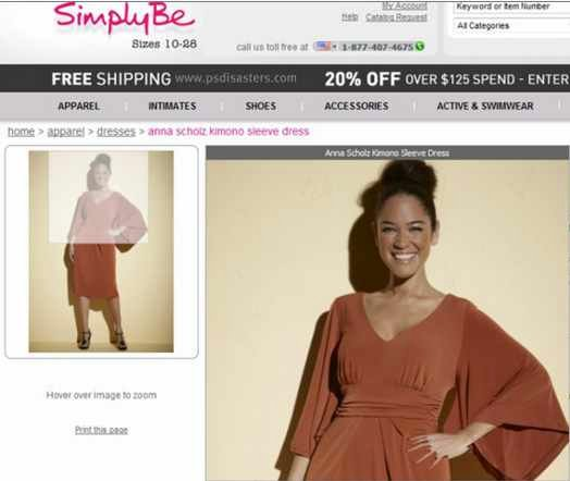 SimplyBe's model has strangely sprawling fingers