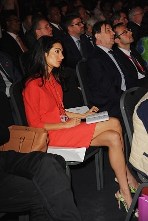 Amal at a Global Summit to End Sexual Violence in June 2014