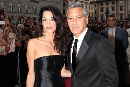 George and Amal, finally off house arrest
