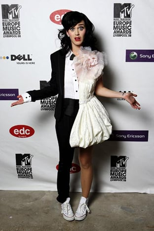 At the 2008 MTV Europe Music Awards in Liverpool, England.