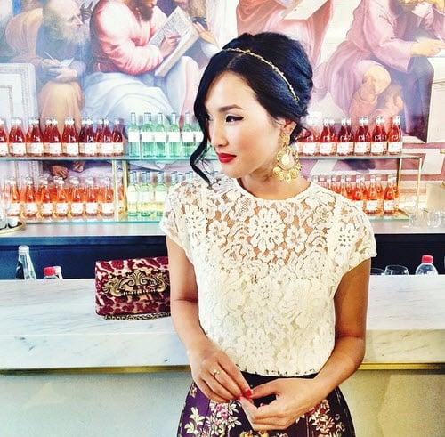 Fashion blogger Nicole Warne in Dolce & Gabbana
