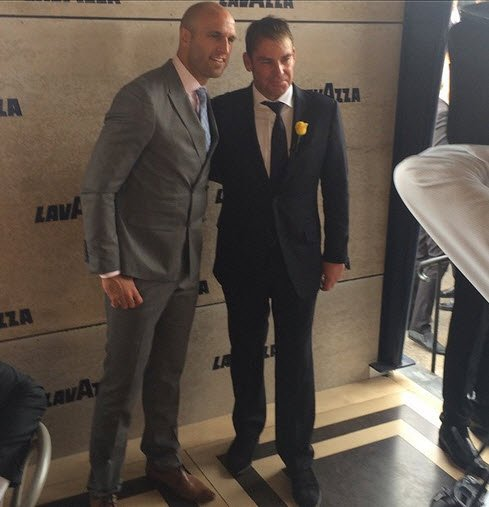 Chris Judd and Shane Warne